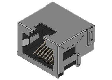 Modular Low-Profile RJ45 Jack SMT Mid Mount Shielded Tab Up 8.5mm ISO9001