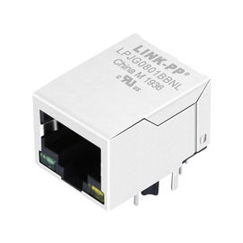 LPJG0801BBNL Coon Rj-45, Shield Thru-lỗ W / LEDs & Magnetic, Gigabit 1: 1, RoHs